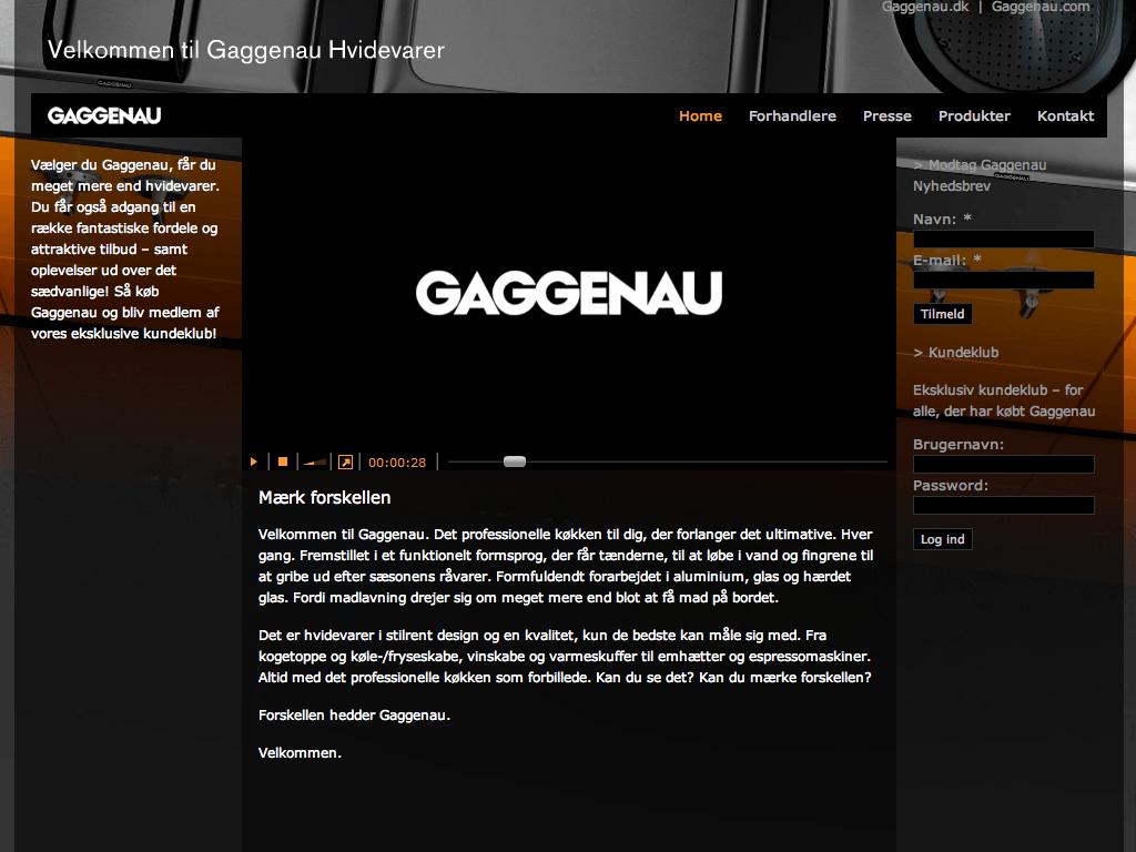 Portfolio case – Søgemaskineoptimeret portal til Gaggenau. Eksklusive produkter, showrooms og nyheder i et smukt design, der engagerer kunder og styrker brandet