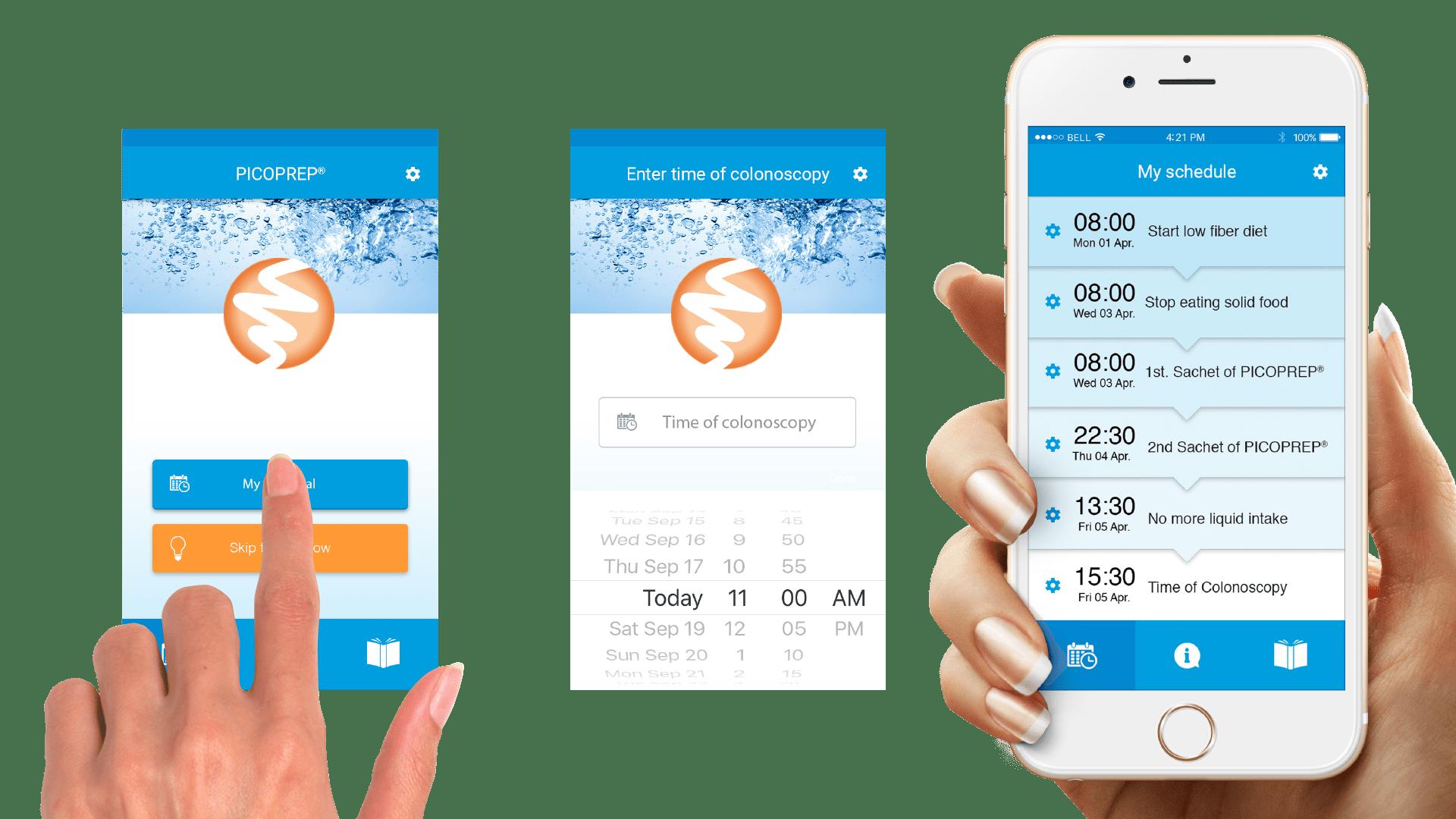 Picoprep-iPhone-app-set-time